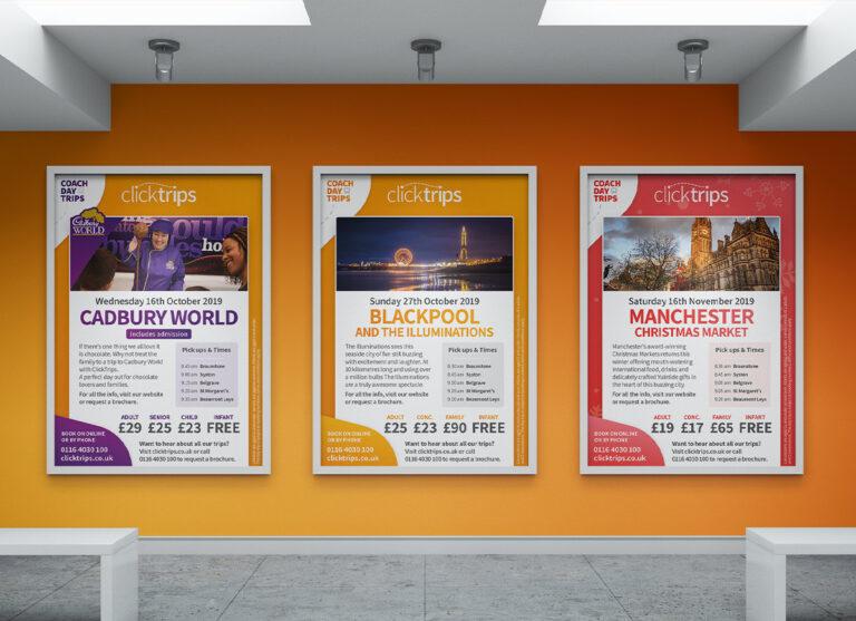ClickTrips Leaflet, Flyer and Poster Design