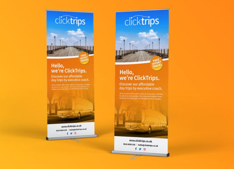 ClickTrips Roller Banner Design