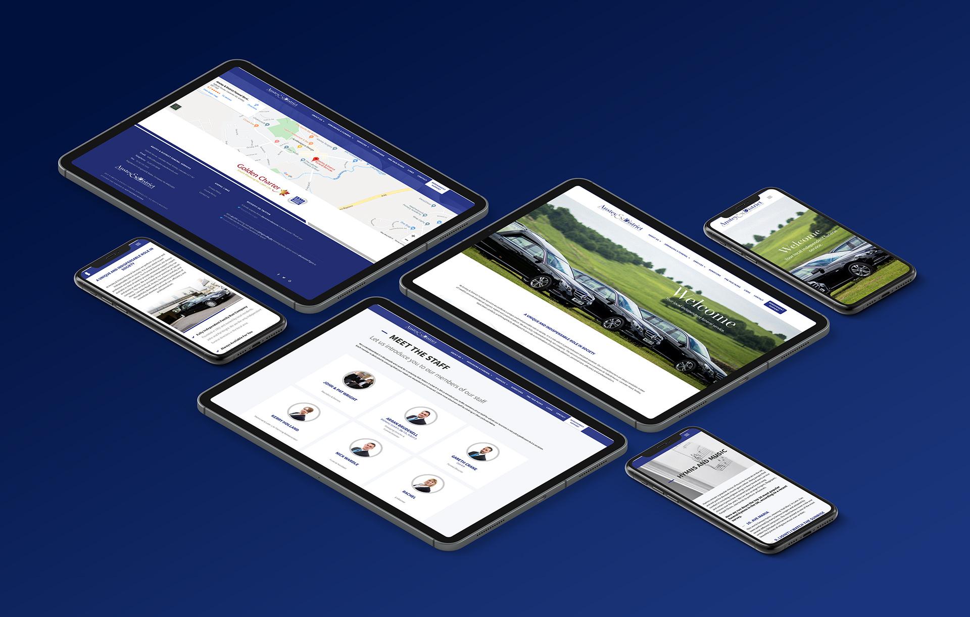 Anstey & District Funeral Services Web Design